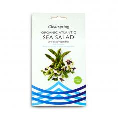 Водорості атлантичні Морський салат сушені, Clearspring, 25г
