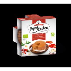 Сир із кеш'ю копчений з паприкою витриманий органічний, Happy Cashew. 100г