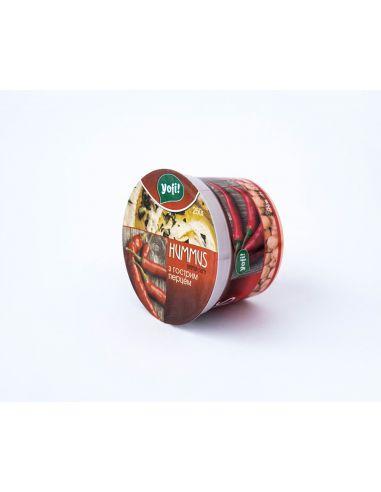 """Хумус, закуска середземноморська з гострим перцем, ТМ """"Yofi"""", 250г"""