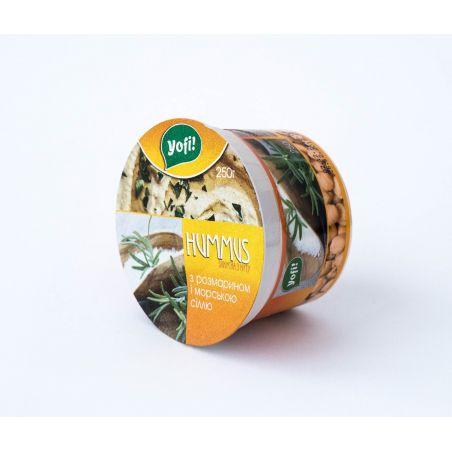 """Хумус, закуска середземноморська з розмарином і морською сіллю, ТМ """"Yofi"""", 250г"""