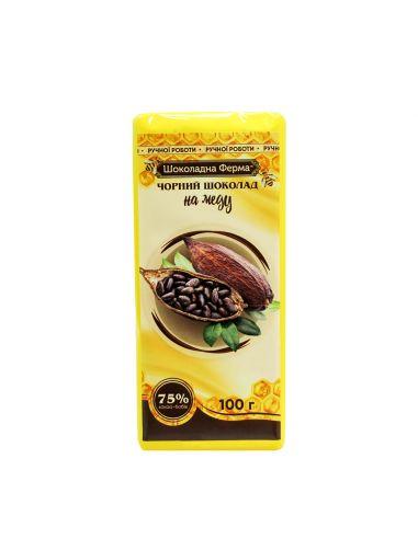 Шоколад чорний на меду, Шоколадна ферма, НОВИНКА, 100г