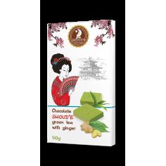 Шоколад зелений чай з імбиром, Shoude, 90г