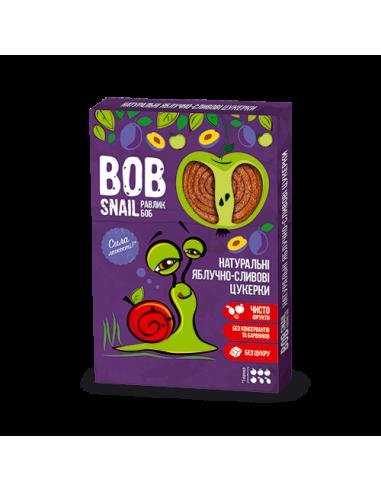 Натуральні яблучно-сливові цукерки bob snail (Равлик Боб), 60г