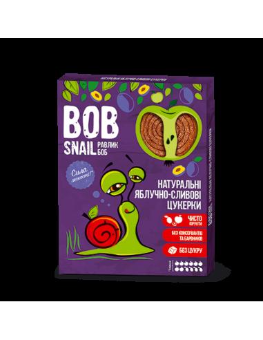 Натуральні яблучно-сливові цукерки bob snail (Равлик Боб), 120г