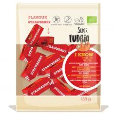 Цукерки Супер Фаджіо Полуниця органічні, Super Fudgio, 150г