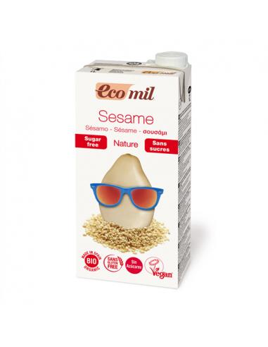 Молоко кунжутное с сиропом агавы, EcoMil, 1000 мл