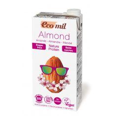 Молоко миндальное с протеином без сахара, EcoMil, 1000мл