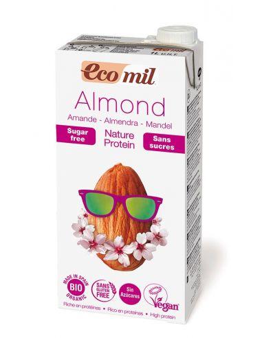 Молоко мигдальне з протеїном без цукру, EcoMil, 1000мл