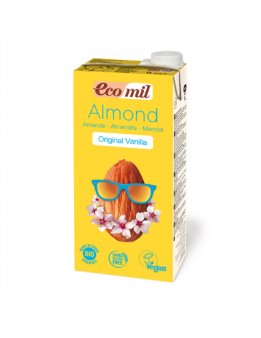 Молоко мигдальне з сиропом агави і ваніллю, EcoMil, 1000мл