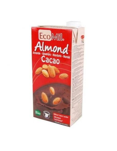 Молоко з мигдалю з сиропом агави і какао, EcoMil, 1000мл