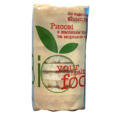 Хлібці рисові з насінням чіа та морскою сіллю, Biofood, 100г
