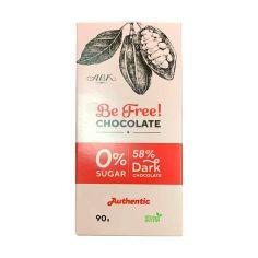 Шоколад чорний зі стевією, 58%, АВК, 90г