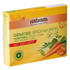 Бульйонні кубики органічні овочеві, Naturata, 72 г