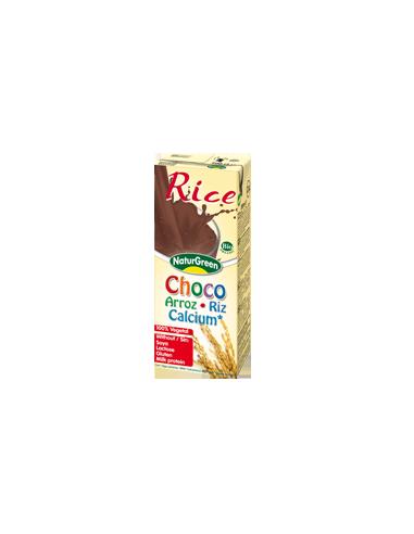 Молоко рисовое с какао, NaturGreen, 200мл.