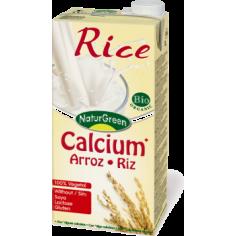 Молоко рисове з кальцієм, NaturGreen, 1000мл