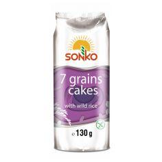 Галети 7 злаків з диким рисом, Sonko, 130г