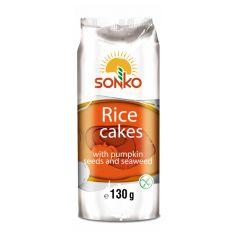 Галети рисові з насінням гарбуза, Sonko, 130г