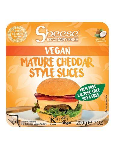 Сир твердий, чеддер дозрілий скибочки, SHEESE, 200г.