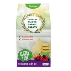 Печиво рисове з журавлиною та лаймом без глютену, Кохана, 270г