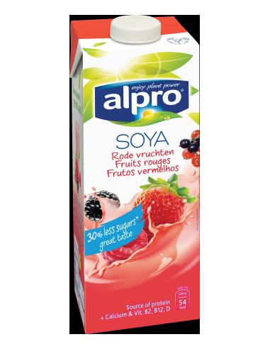 Молоко соєве червоні фрукти, Alpro, 1000мл