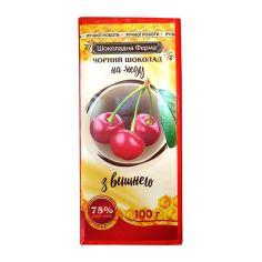 Шоколад чорний на меду з вишнею, Шоколадна ферма, НОВИНКА, 100г