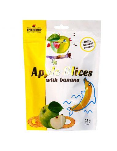 Слайси яблучні з бананом, новинка, Spektrumix, 33г