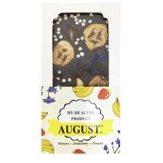 Шоколад з Кероба банан-полуниця-квіти, August, 100г