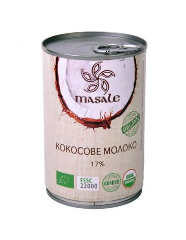 Молоко кокосове, ж/б, Masale, 400мл