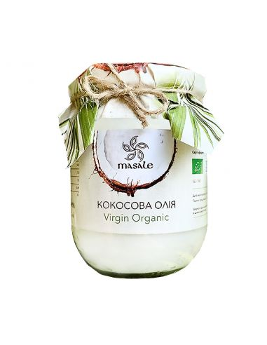 Масло кокосовое, Masale, б.стекло, Virgin Organic, 500мл