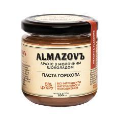 Паста арахіс з молочним шоколадом, ALMAZOVЪ, 200г