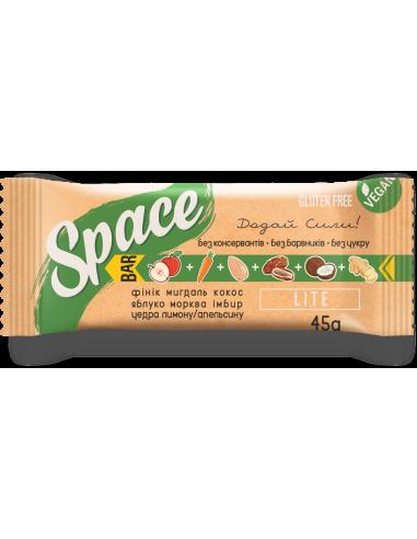 """Батончик орехово-фруктовый """"лайт"""" Space Bar, 45г"""