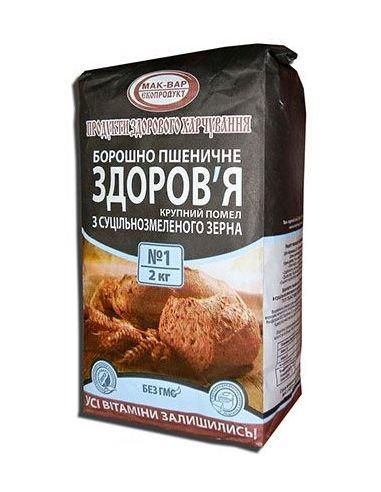 Мука пшеничная, грубого помола, МакВар,2кг