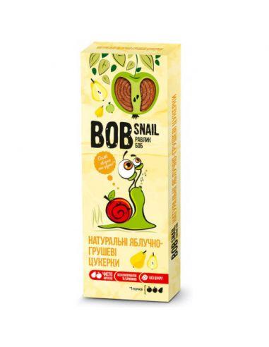 Натуральні яблучно-грушеві цукерки bob snail (Равлик Боб), 30г