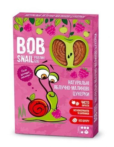 Натуральні яблучно-малинові цукерки bob snail (Равлик Боб), 60г