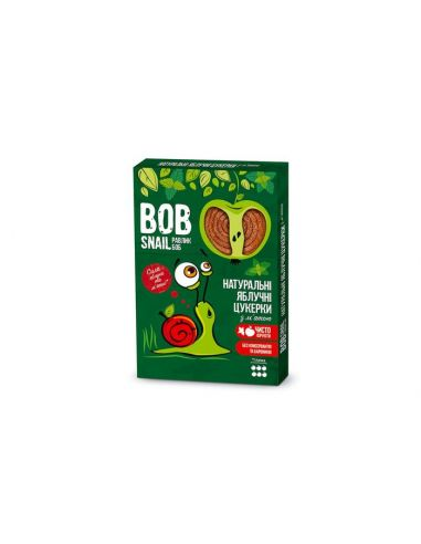 Натуральні яблучні цукерки з м`ятою bob snail (Равлик Боб), 60г