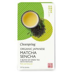 Чай зелений Матча-Сенча органічний пакет., Clearspring, 36г.