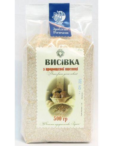 Висівки з пророщеної пшениці, Рось, 500г.