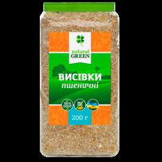Отруби пшеничные, NATURAL GREEN, 200г