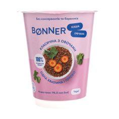 Каша гречана класична з овочами, Bonner, 60г стакан