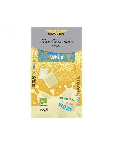 Шоколад білий на рисовому молоці, BonVita, 100г.