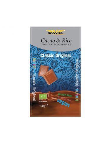 Шоколад з рисом на рисовому молоці без лактози і глютену, BonVita, 100г.