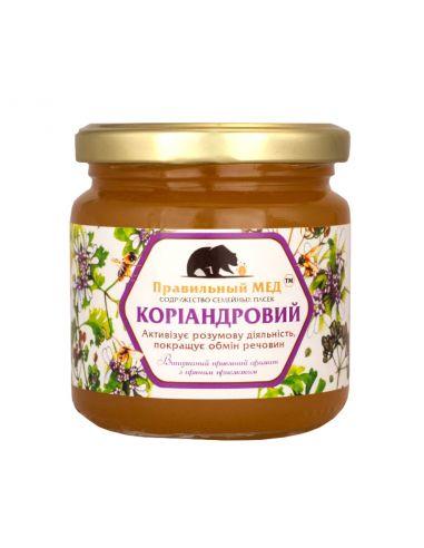 Правильний мед коріандровий, 260г