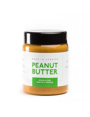 Паста арахисовая грайнд, Peanut Butter, пластик, 280г