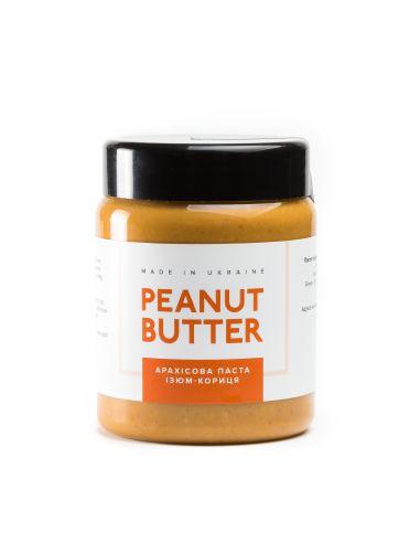 Паста арахисовая изюм с корицей. Peanut Butter,  пластик, 280г