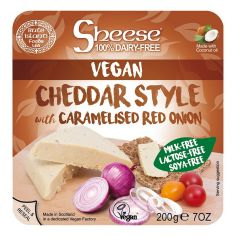 Сир Чеддер веганський з карамелізованою цибулею, Sheese, 200г