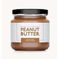 Паста арахисовая кранч, Peanut Butter, стекло, 180г