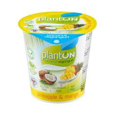 Йогурт веганський ананас і манго, PlantON, 160г