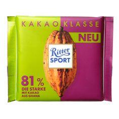 Шоколад темний 81%, Ritter Sport, 100г