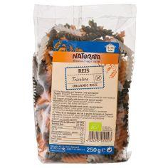 Локшина рисова органічна з томатами і шпинатом без глютену, Naturata, 250г