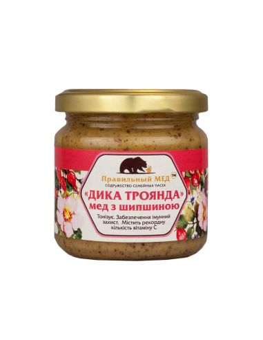 Правильний мед з шипшиною, 250мл